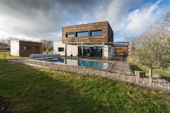 Construction De Maison D Architecte Design Avec Toit Plat Toulouse Architecte Dplg